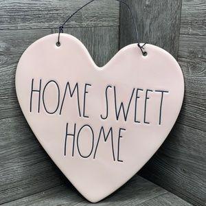 Rae Dunn HOME SWEET HOME pink heart